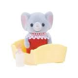 Sylvanian Families standing baby elephant in red rare