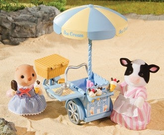 Sylvanian Families Elsie Buttercup Cow and her icecream cart bike