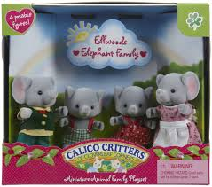 Calico Critters Sylvanian Families Elephant Family