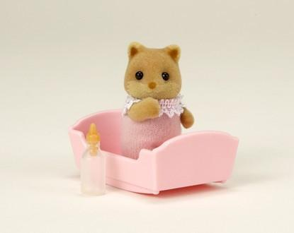 Sylvanian Families Lindy Fox baby honey foxes
