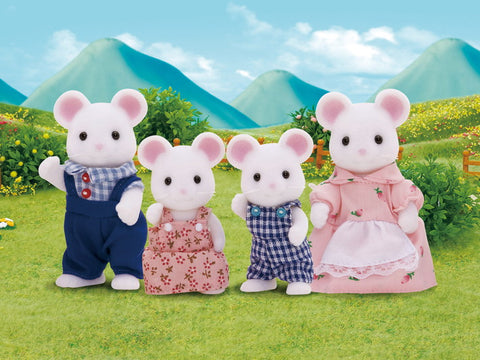 Sylvanian Families White mice family on sale