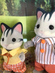 Sylvanian Families Gray Striped cat paws colour