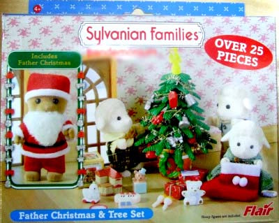 Sylvanian FAmilies Santa and christmas tree