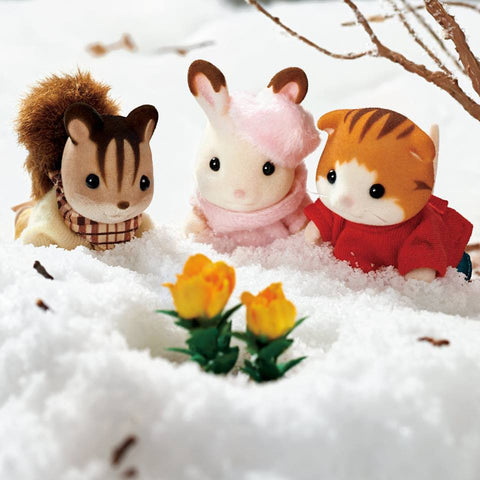 Sylvanian Families Flowers in the snow spring planting