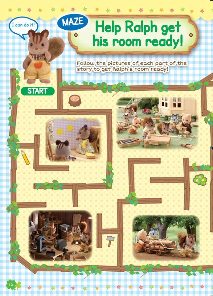 Sylvanian Families Maze Game entertainment party idea