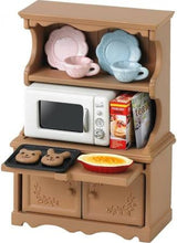 Sylvanian Families Welsh Dresser with Microwave