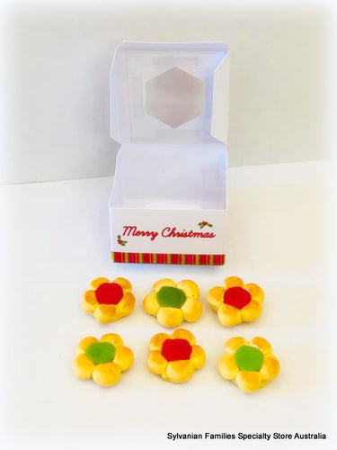 6 x cookies in a Christmas box