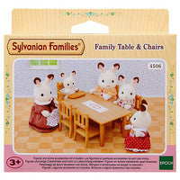 Sylvanian Families Table and Chairs with Baby Seat Epoch Furniture