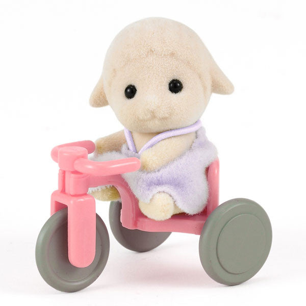 Sylvanian Families Sheep Baby on Tricycle - European