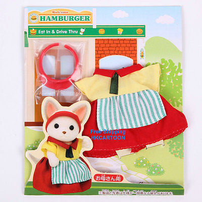 Sylvanian Families Hamburger Restaurant Uniform