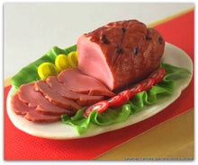 Miniature Dollshouse Christmas Ham for Sylvanian Families