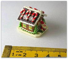 Dollshouse miniature Gingerbread cottage house Candy Canes
