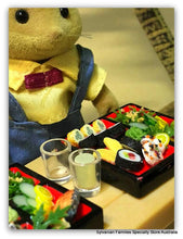 Sylvanian Families love Sushi - Japanese Bento box miniature food