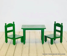 Sylvanian Families green early Tomy table chairs