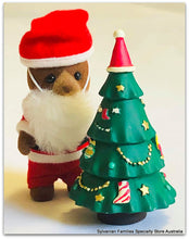 Sylvanian Families  with a resin christmas tree