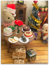 Sylvanian Families christmas Yule log Christmas feast