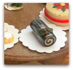 Dollshouse miniature Christmas yule log Australia