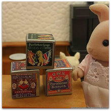 Sylvanian Families Rabbit mother with vintage biscuit tins kitchen