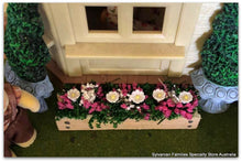 Dollshouse miniature window box pink flowers for Sylvanian Families