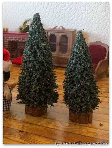 Evergreen Miniature Tree x 2 Flock realistic look