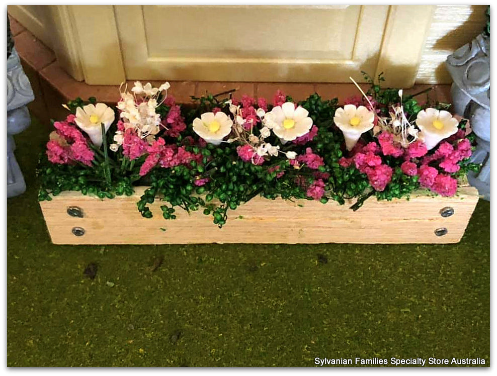 Window Box with Pink Flowers - Miniature