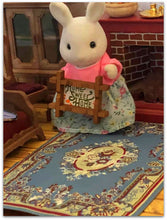 Streets ahead Victoria Blue rug for Sylvanian Families homes