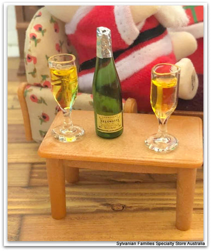 Champagne and 2 Flutes - miniature
