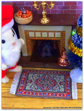 Dollshouse miniature Turkish woven Persian rug carpet FAther Christmas Sylvanian Families