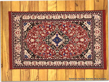 Dollshouse miniature red oriental style rug carpet