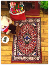Dollshouse miniature carpet rug oriental style woven