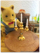 Sylvanian Families Fox and candelabra miniature