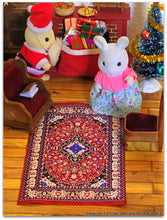Dollshouse rug carpet Sylvanian Families Santa Rabbit mother
