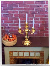 Dollshouse miniature candelabra Sylvanian fireplace