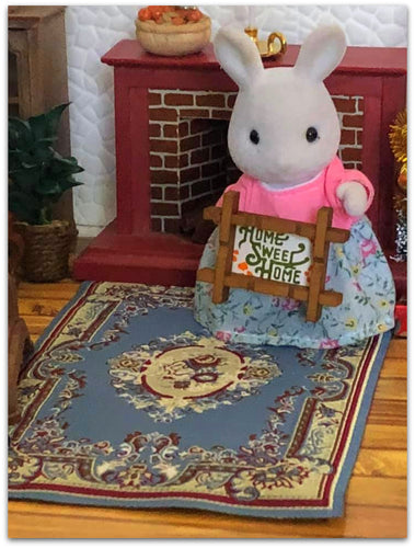 Streets ahead Victoria Blue rug for Sylvanian Families