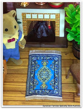 Sylvanian Families with blue rug Streets ahead turkish woven persian