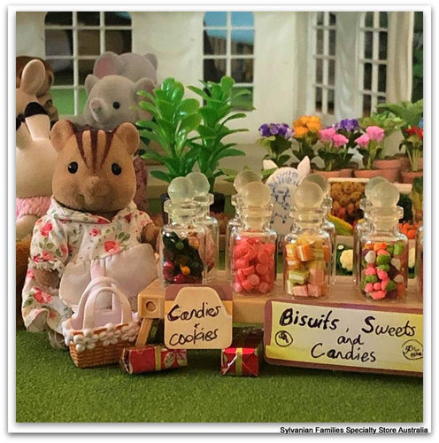 Dollshouse miniature sweet treats Sylvanian Families market day