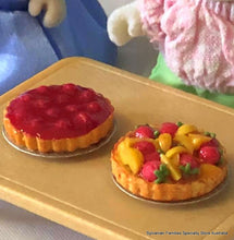Fruit Flan or Berry Pie - Miniature - Choose one