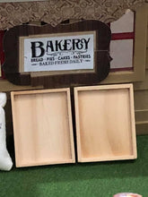 Dollshouse miniature bakery baker trays