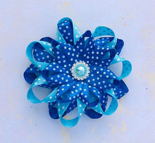 Hair Clip - Royal Blue and Light Blue