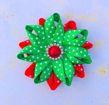 Christmas Hair Clip - Red and Green
