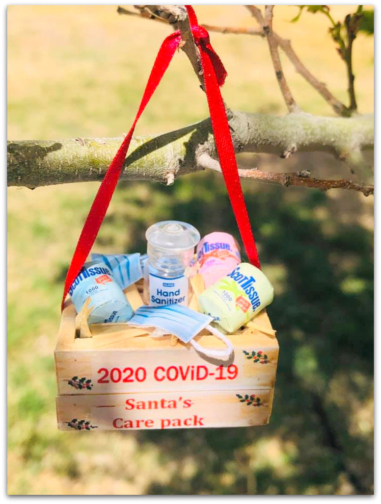 Christmas COVID-19 Crate - Christmas Tree decoration - 4 cm x 3.5 cm