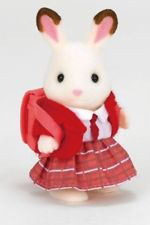 Sylvanian Families Freya Chocolate Rabbit in school uniform