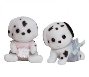 Sylvanian Families Black Spotted Dalmatian Twins