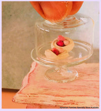 Dollhouse miniature glass cloche meringues sweets