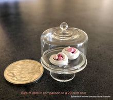 Glass Cloche with miniature Easter meringues x 2