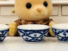 Sylvanian FAmilies bear and blue porridge bowl