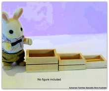 Dollhouse miniature wooden crates