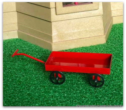 Dollshouse miniature red cart metal