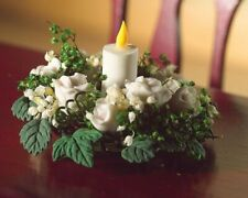 Dollshouse miniature white flower table decoration