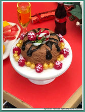 Dollshouse Christmas miniature dessert pudding